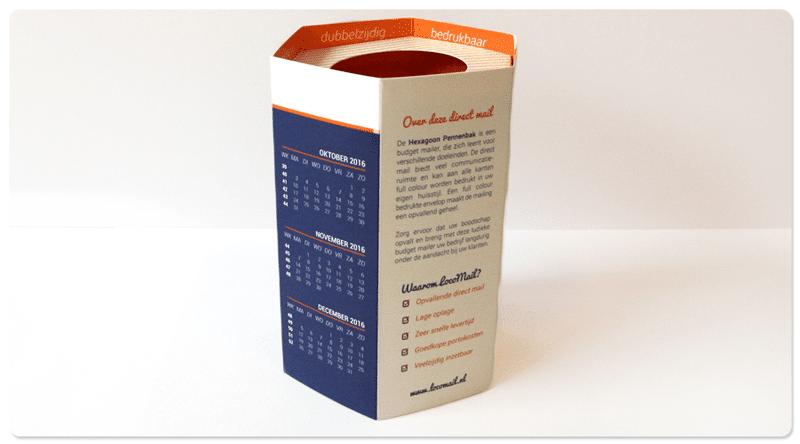 Promotionele Pennenbak als eindejaarsmailing LocoMail